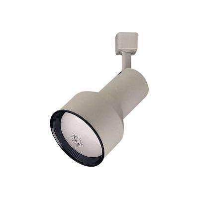 1-Light White Track Light Fixture