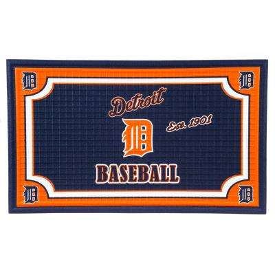 Detroit Tigers 18 in. x 30 in. Embossed Welcome Mat