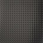 10 ft. x 24 ft. Diamond Tread Commercial Grade Midnight Black Garage Floor Cover and Protector