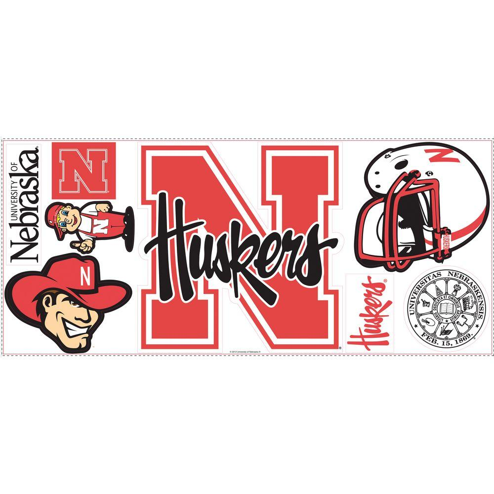 RoomMates University of Nebraska Giant Peel and Stick Wall Decals-DISCONTINUED