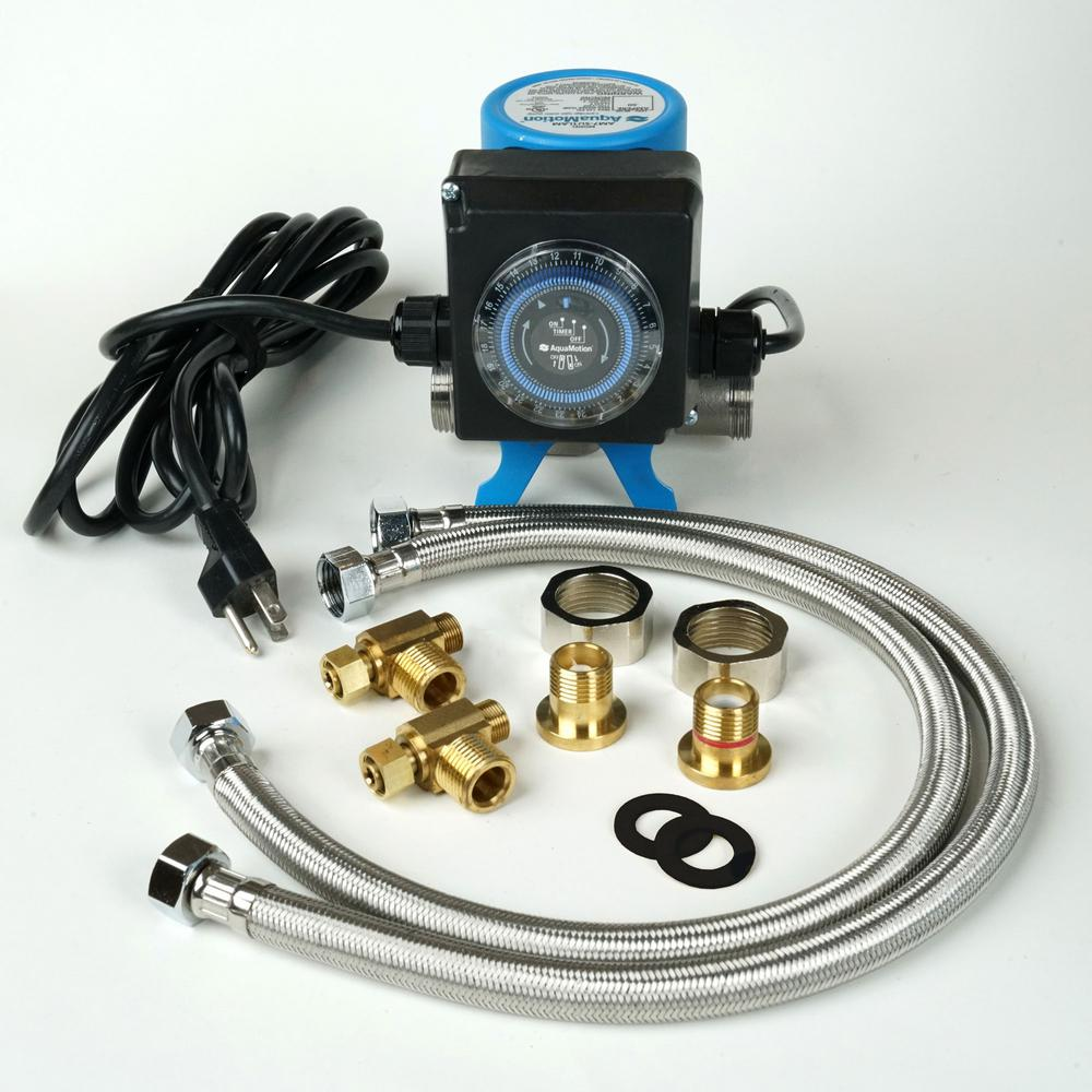 AquaMotion AquaMotion Stainless Steel Hot Water Recirculation System with Check Valve for 250 ft. Pipe System and Under Sink Installation