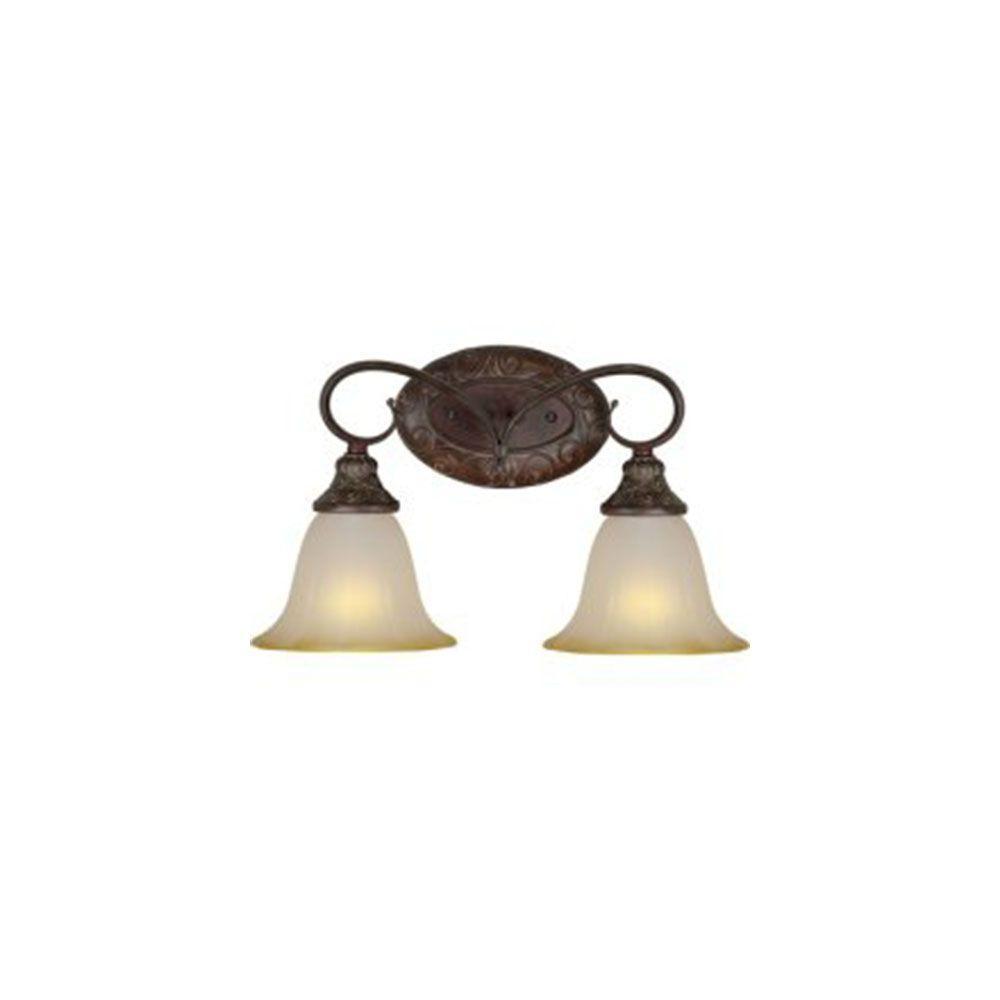 Talista Burton 2-Light Black Cherry Incandescent Bath Vanity Light