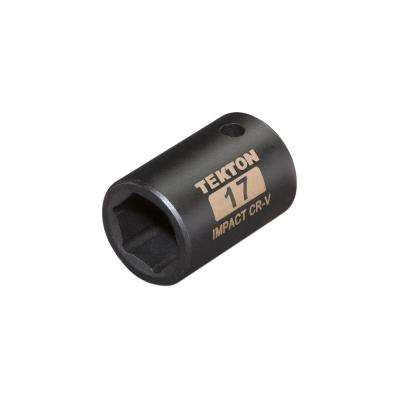 1/2 in. Drive 17 mm 6-Point Shallow Impact Socket