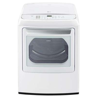 7.3 cu. ft. Smart Gas Dryer with Steam and WiFi Enabled in White, ENERGY STAR