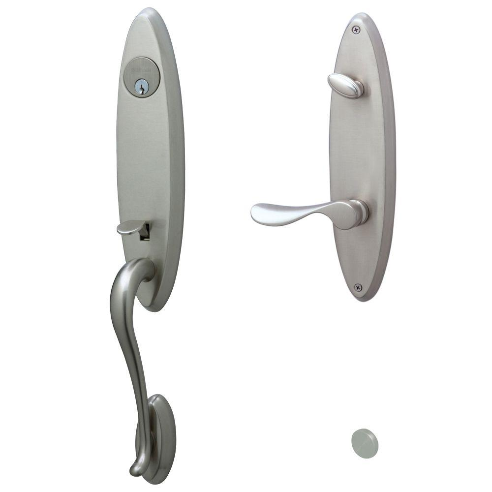 Schlage Venice Handleset with Champagne Interior Lever Right Hand Satin Nickel-DISCONTINUED