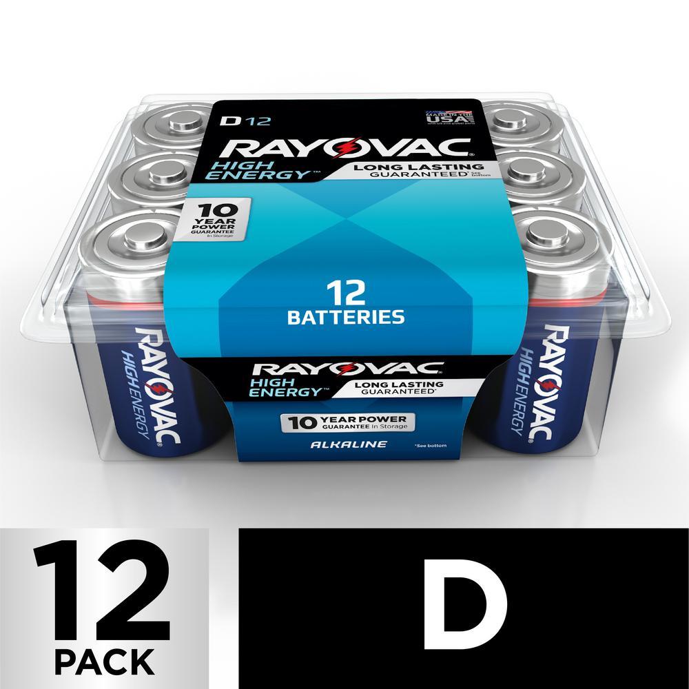 D Alkaline Batteries (12-Pack)