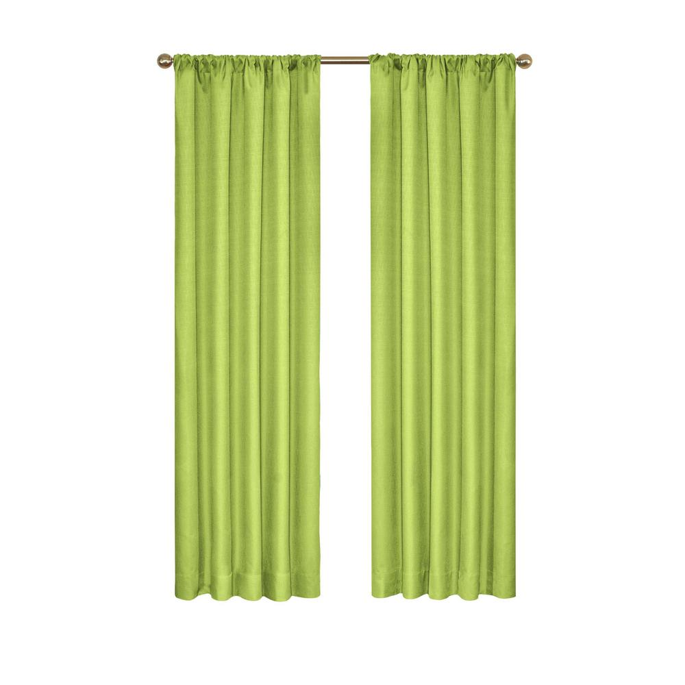 Eclipse Kendall Blackout Window Curtain Panel in Lime - 42 in. W x 84 in. L