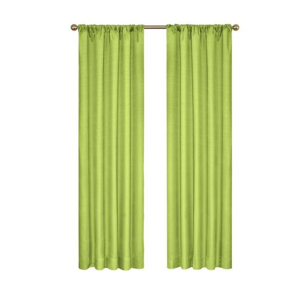 Kendall Blackout Window Curtain Panel in Lime - 42 in. W x 84 in. L