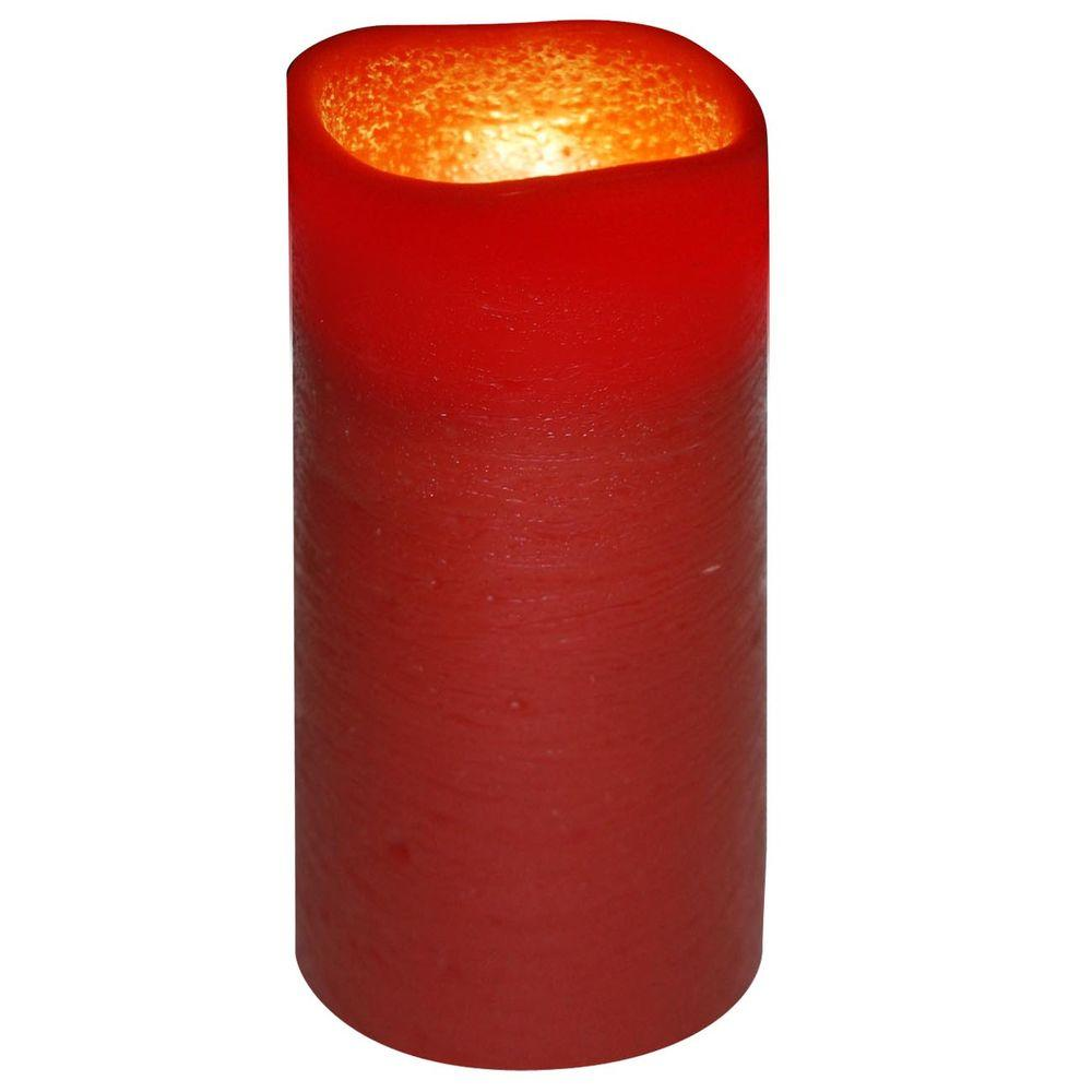 null 3 in. x 6 in. Flameless Lattice Brown Copper Candle