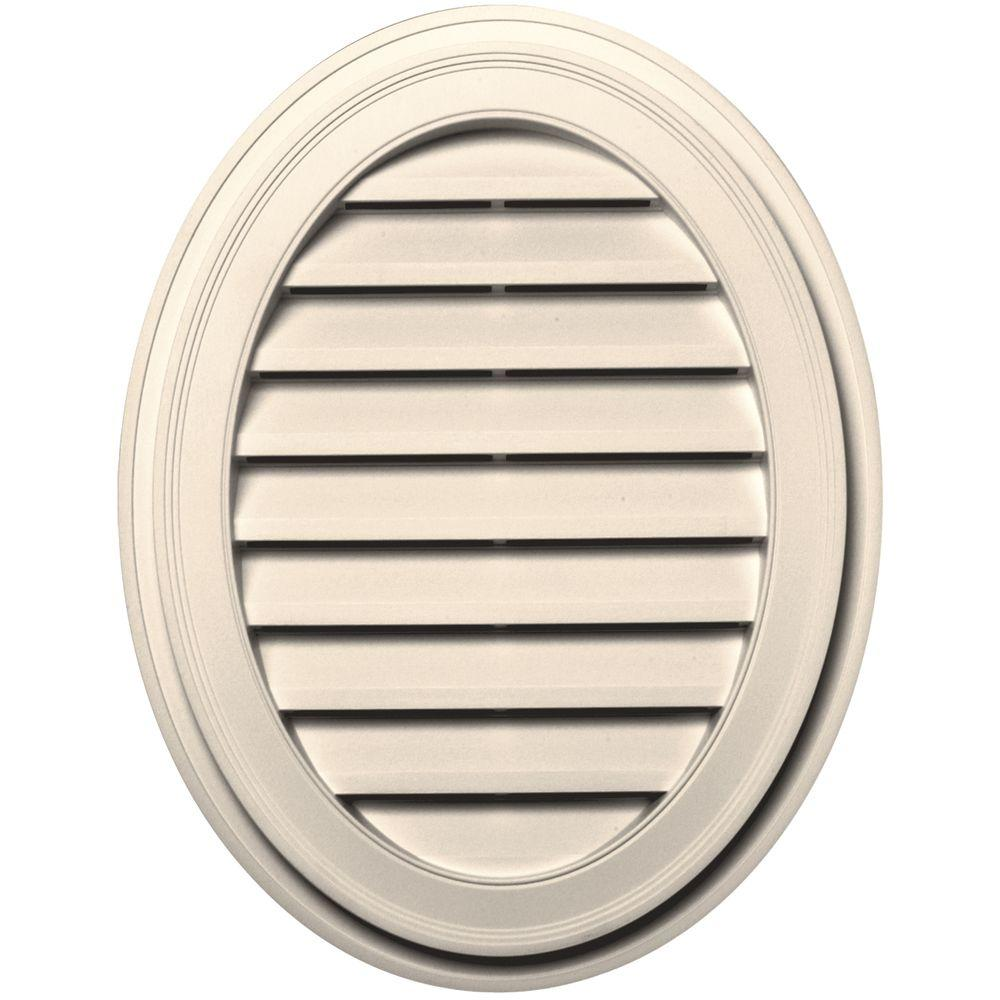 Builders Edge 27 in. Oval Gable Vent in Sandstone Beige