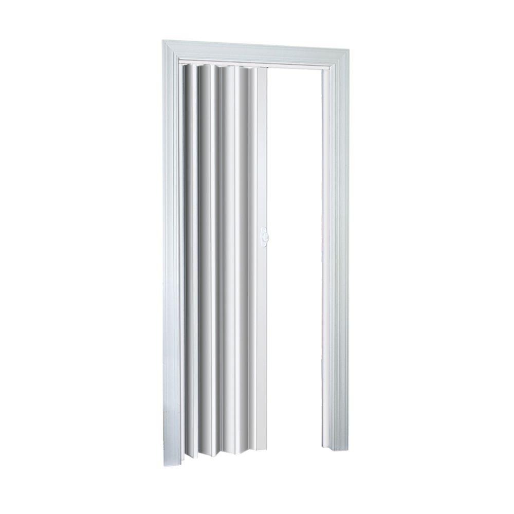 Ellington Vinyl White Accordion door  sc 1 st  Home Depot : acordian door - pezcame.com