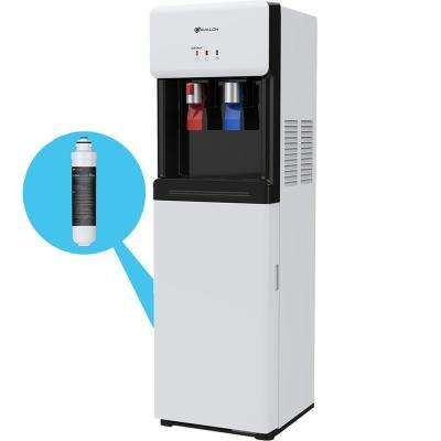 Bottle-Less, Self-Cleaning Water Cooler Dispenser with Filter - Hot and Cold Water, Child Safety Lock - UL/ENERGY STAR