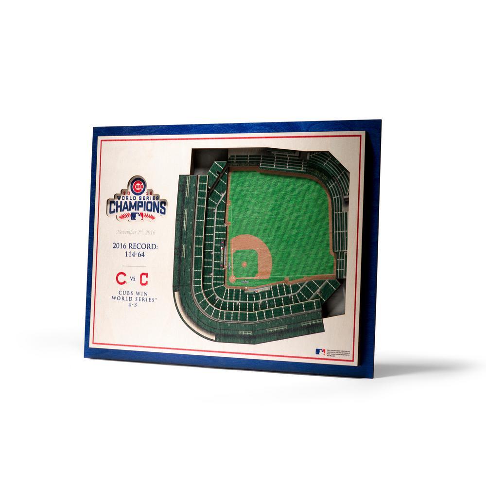 MLB Chicago Cubs World Series 5-Layer Stadiumviews 3D Wooden Wall Art