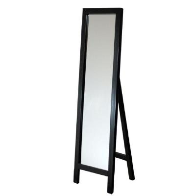 18 in. x 64 in. Single Easel Floor Mirror in Espresso