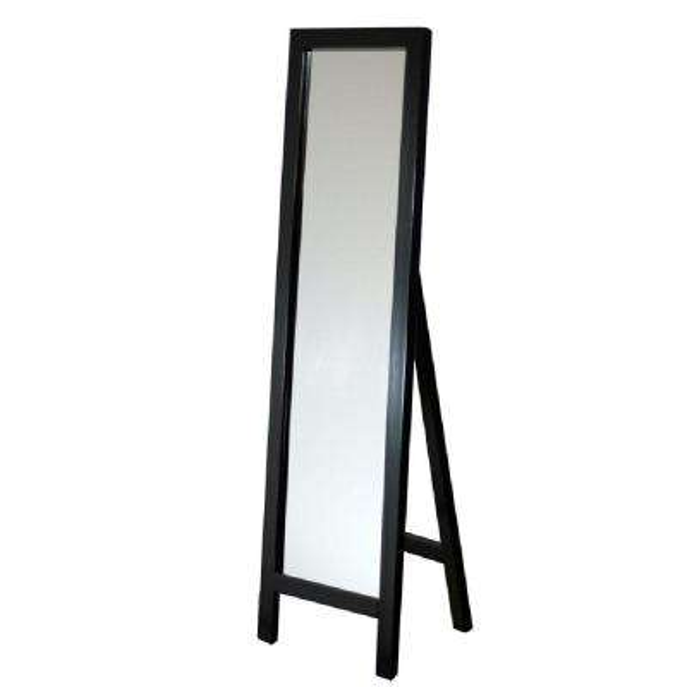 18 in. x 64 in. Single Easel Floor Mirror in Espresso