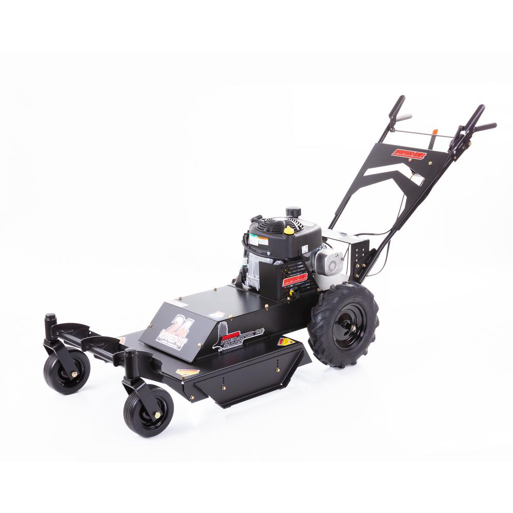 Swisher Predator 24 in. 11.5 HP 4-Speed Briggs & Stratton Gas Recoil Start Self-Propelled Walk Behind Brush Cutter with Casters