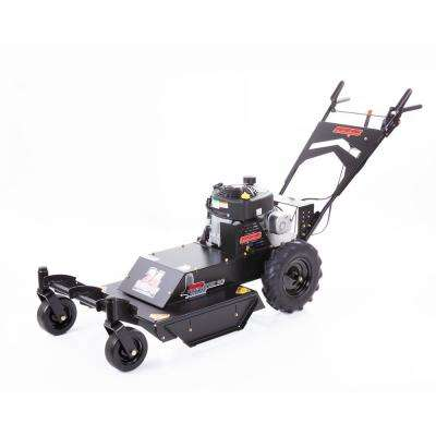 Predator 24 in. 11.5 HP 4-Speed Briggs & Stratton Gas Recoil Start Self-Propelled Walk Behind Brush Cutter with Casters