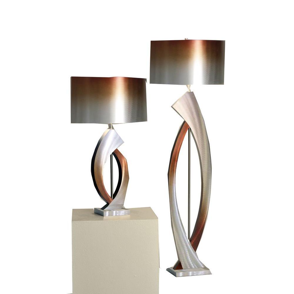 Astrulux 60.5 in. Brushed Aluminum Floor Lamp