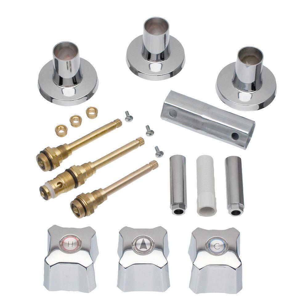 3-Handle Remodeling Kit for Kohler Trend Tub/Shower Faucets, Chrome