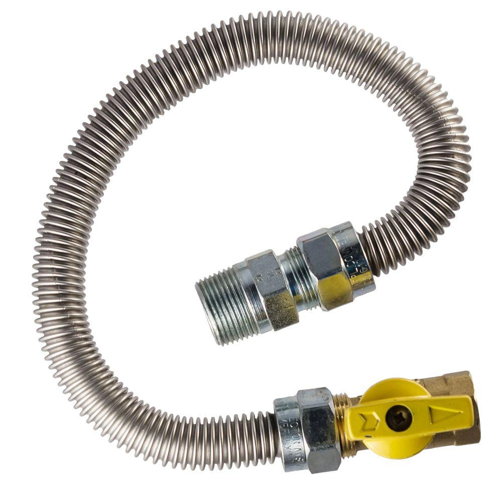"New Flexible Metal Hose Connector 3//4/"" x 12/"" length air compressor stainless ..."