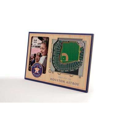 MLB Houston Astros Team Colored 3D StadiumView with 4 in. x 6 in. Picture Frame