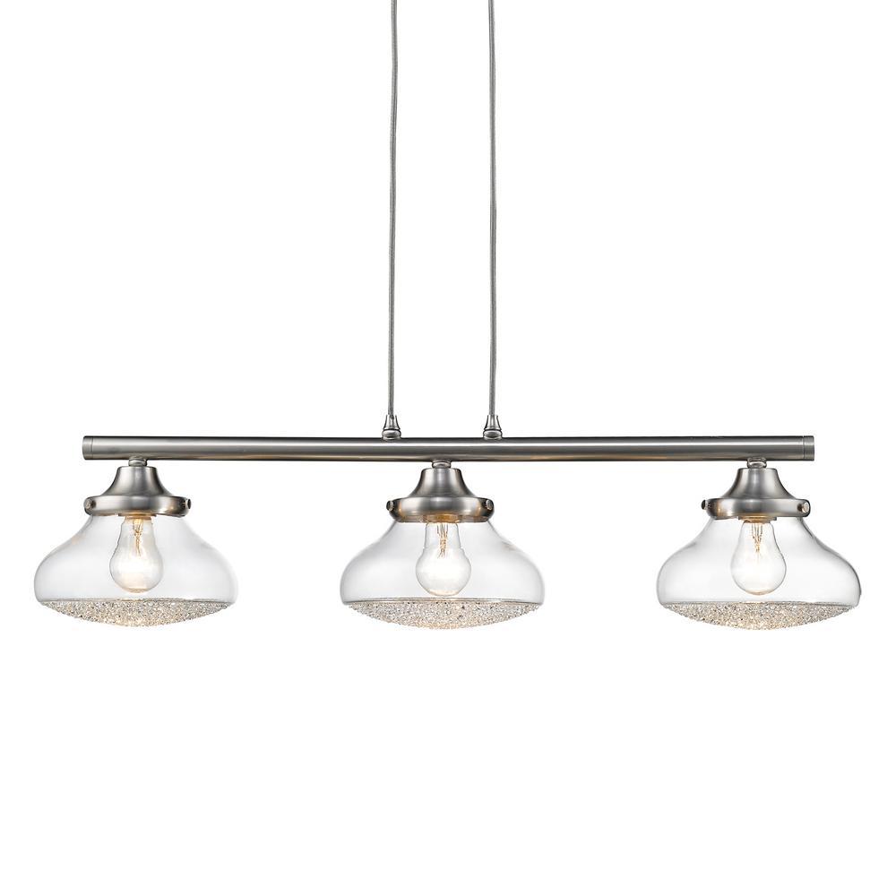 Asha 3-Light Pewter Pendant Light