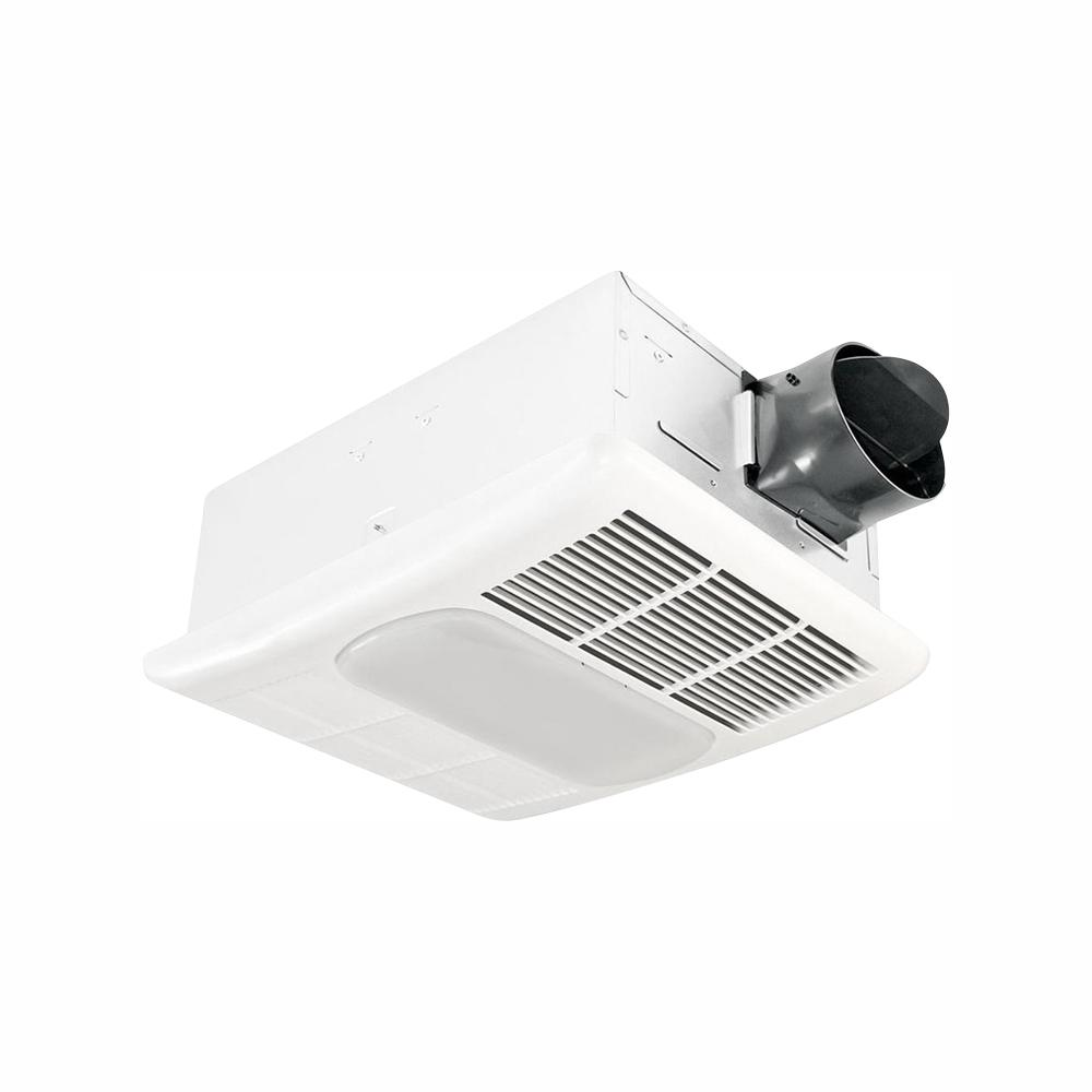 Delta Breez Radiance Series 80 CFM Ceiling Exhaust Bathroom Fan with Dimmable LED Light and Heater