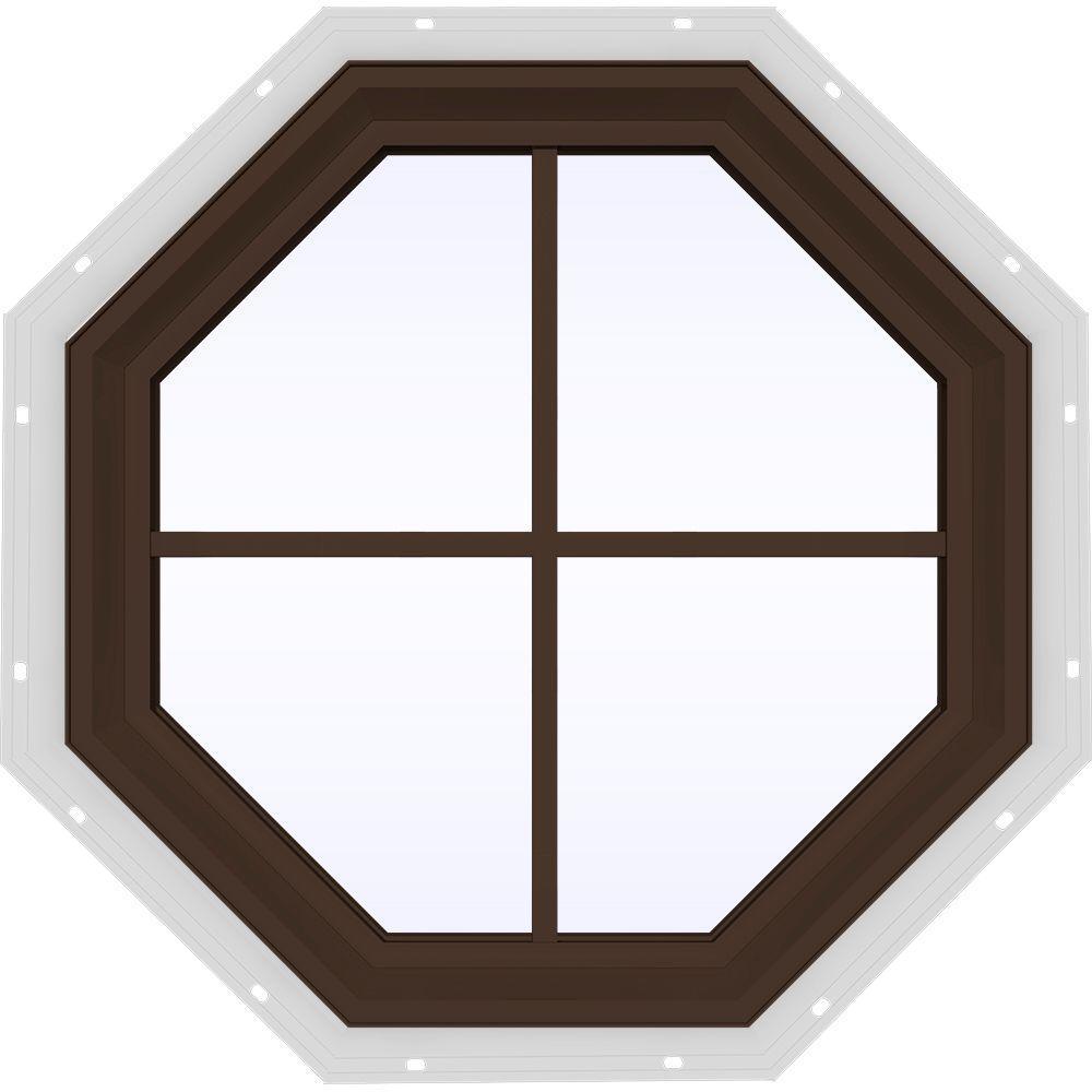 23.5 in. x 23.5 in. V-2500 Series Fixed Octagon Vinyl Window