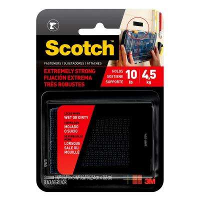 Scotch 1 in. x 3 in. Black Extreme Fasteners (2-Sets per Pack)