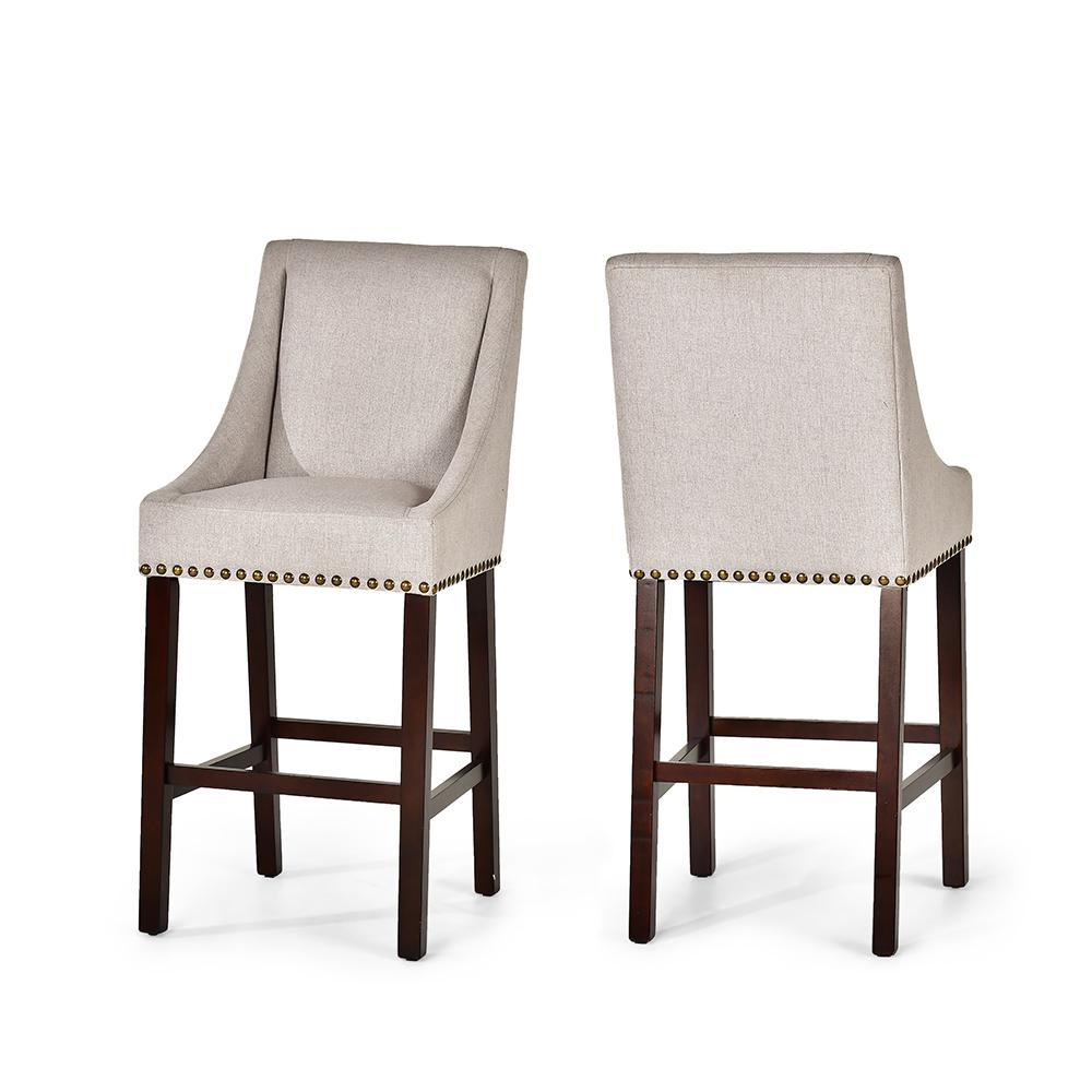 Jolie Beige Bar Chair- set of 2