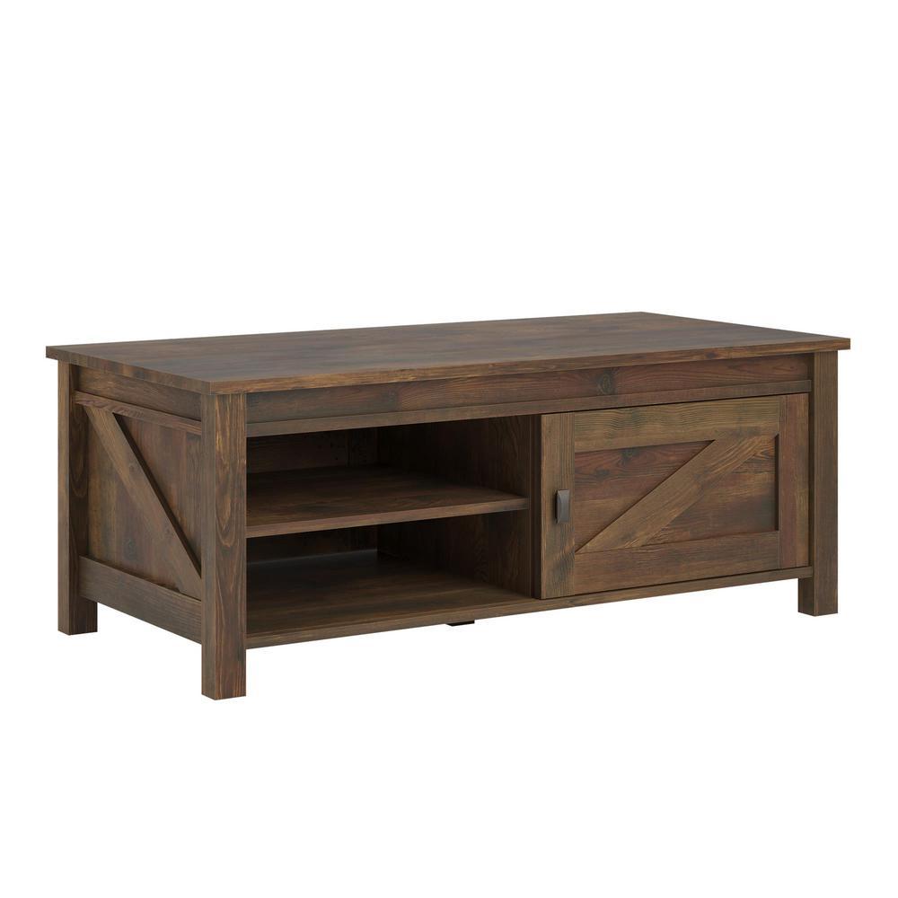 Storage Coffee Table Pine: Ameriwood Brownwood Barn Pine Storage Coffee Table-HD24629