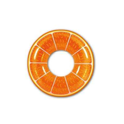 42 in. Orange Inflatable Inner Tube Float