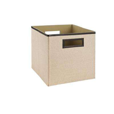 11 in. Khaki Fabric Bin