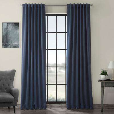 Semi-Opaque Nocturne Blue Blackout Curtain - 50 in. W x 108 in. L (Panel)