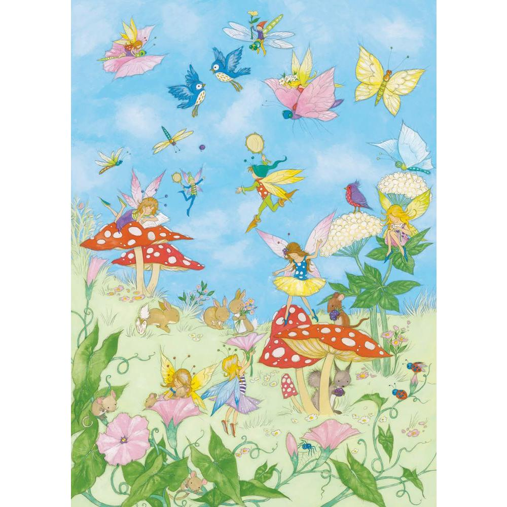 Ideal Decor 100 in. x 72 in. Fairy Tales Wall Mural