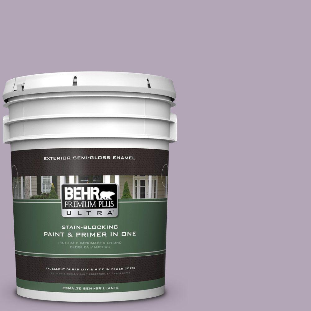 5-gal. #660F-4 Plum Frost Semi-Gloss Enamel Exterior Paint