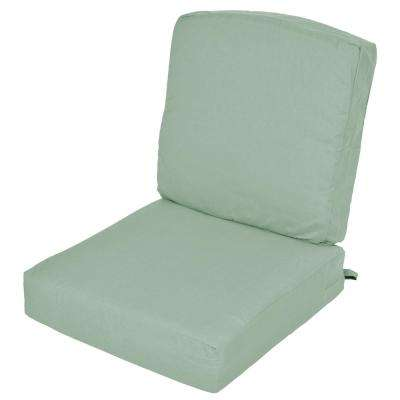 Oak Cliff Sunbrella Spectrum Mist Replacement 2 Piece Deep Seating Outdoor  Lounge Chair Cushion