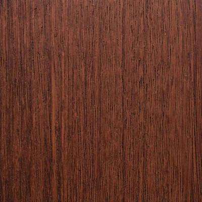 3 in. x 6 in. Garage Door Composite Material Sample in Mahogany Species with Dark Finish