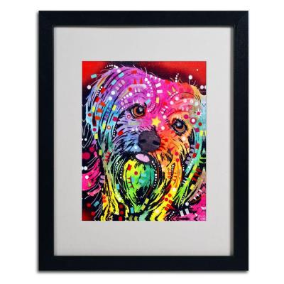 16 in. x 20 in. Yorkie Matted Black Framed Wall Art