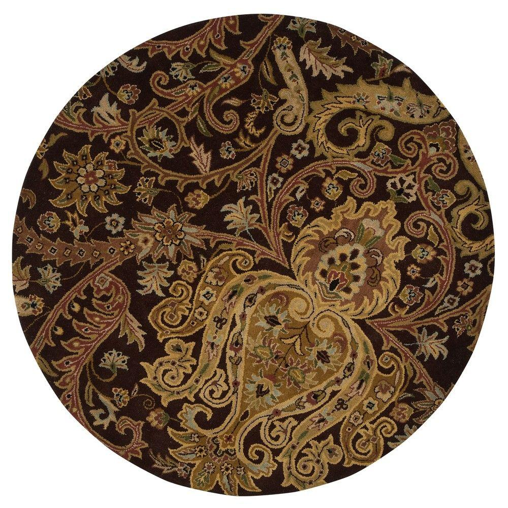 Home Decorators Collection Promanade Brown 7 ft. 9 in. Round Area Rug