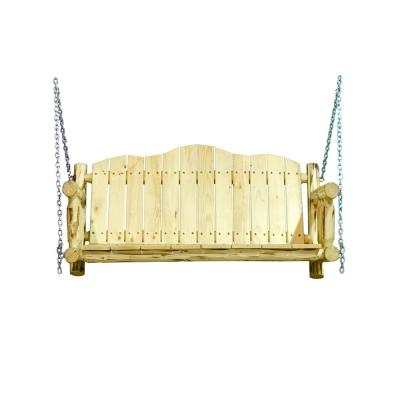 Montana Collection 2-Person Exterior Wood Porch Swing