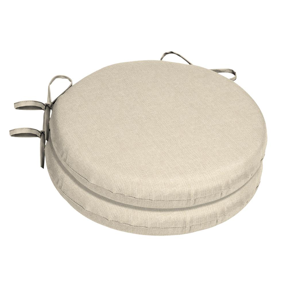 Home Decorators Collection 15 X Sunbrella Canvas Flax Round Outdoor Chair Cushion 2