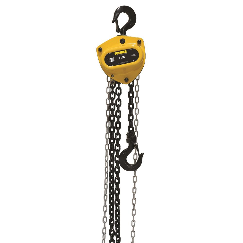 SUMNER 2-Ton Chain Hoist with 15 ft. Lift-787417 - The Home Depot