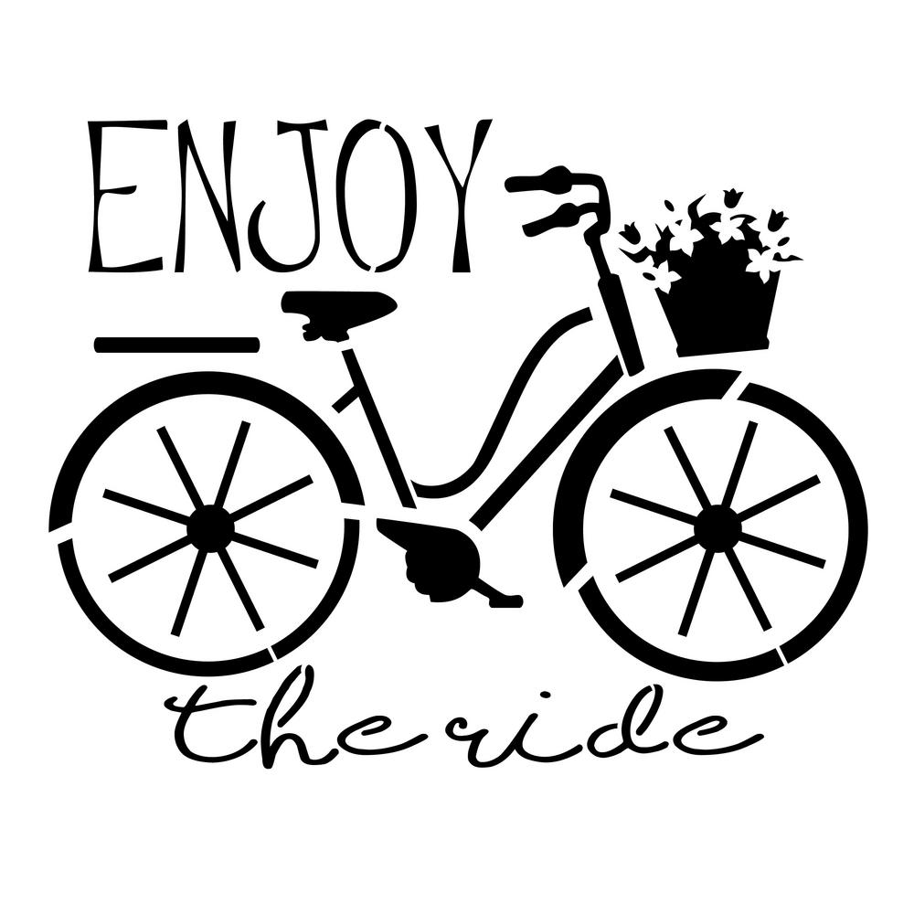 """Enjoy the Ride"" Bicycle Stencil"