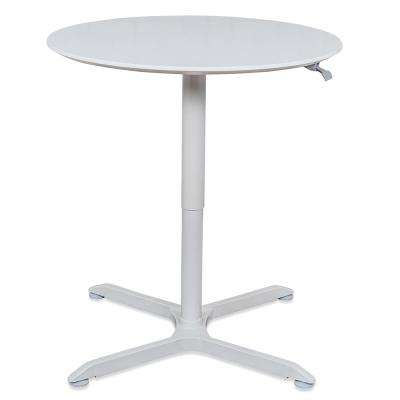 36 in. Pneumatic Height Adjustable Square Caf Table