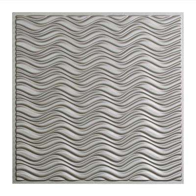 Current - 2 ft. x 2 ft. Vinyl Lay-In Ceiling Tile in Argent Silver