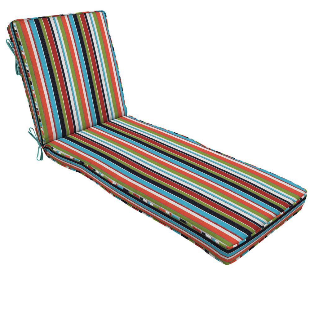 22 x 49 Outdoor Chaise Lounge Cushion in Sunbrella Carousel Confetti