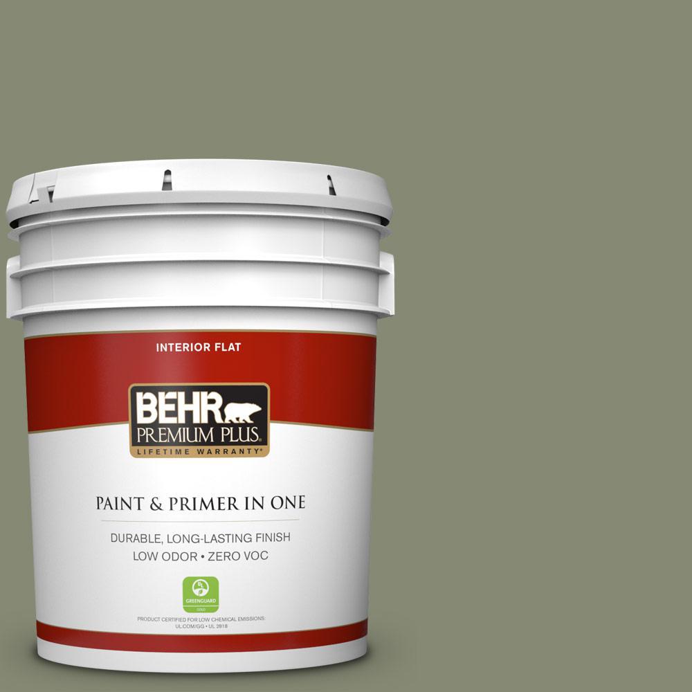 5 gal. #PPU10-17 Aloe Thorn Zero VOC Flat Interior Paint