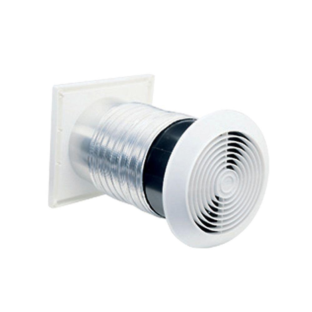 Broan 70 cfm through the wall exhaust fan ventilator 512m the home depot for Exterior mounted exhaust fans for bathroom