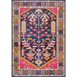 Tonita Tribal Pink 8 ft. x 11 ft.  Area Rug